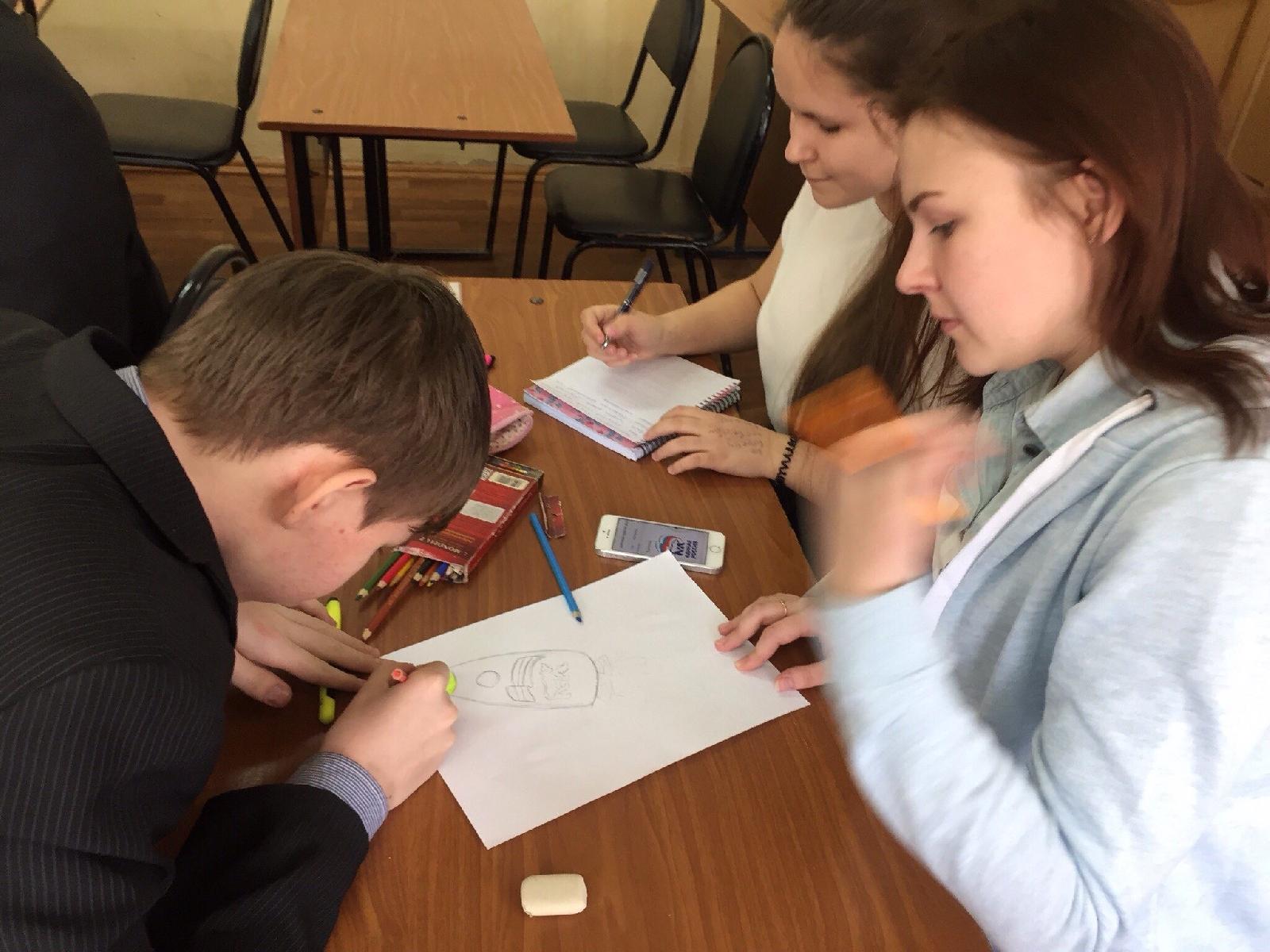 На базе школы №58 завершился элективный курс «Креативная реклама»